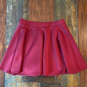 Frenchi ruby red circle skirt